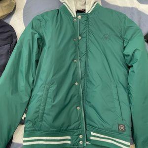 Boys size 16 puffer jacket Green